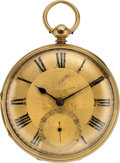 Timepieces:Pocket (pre 1900) , Robert Marshall Large 18k Gold Lever Fusee, circa 1870. ...