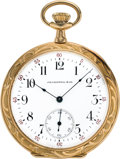 Timepieces:Pocket (post 1900), Waltham 14k Raised Relief Case For J. E. Caldwell, circa 1914. ...