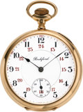 Timepieces:Pocket (post 1900), Rockford 14k Gold 21 Jewel Grade 545, circa 1901. ...