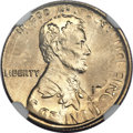 Errors, 1977 Lincoln Cent -- Struck on a 1977 Dime -- MS67 NGC....