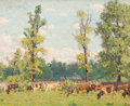 Fine Art - Painting, American:Modern  (1900 1949)  , PROPERTY FROM THE EDWARD CHARLES VOLKERT FAMILY COLLECTION. EDWARDCHARLES VOLKERT (American, 1871-1935). Sunlit Meadow...