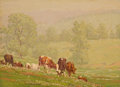 Fine Art - Painting, American:Modern  (1900 1949)  , PROPERTY FROM THE EDWARD CHARLES VOLKERT FAMILY COLLECTION. EDWARDCHARLES VOLKERT (American, 1871-1935). Retreating Mis...
