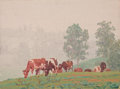 Fine Art - Painting, American:Modern  (1900 1949)  , PROPERTY FROM THE EDWARD CHARLES VOLKERT FAMILY COLLECTION. EDWARDCHARLES VOLKERT (American, 1871-1935). Morning Mist...
