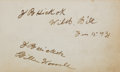 "Autographs:Celebrities, James Butler ""Wild Bill"" Hickok and William F. ""Buffalo Bill"" Cody:A Rare and Important Signed Autograph Book from the Legend..."