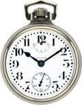 Timepieces:Pocket (post 1900), Waltham 23 Jewel Vanguard Wind Indicator, circa 1914. ...