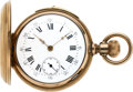 Timepieces:Pocket (pre 1900) , Swiss 10K Gold 18 Size Quarter Hour Repeater. ...