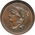 Patterns, 1854 P1C One Cent, Judd-160, Pollock-187, R.4, PR64 Brown NGC....