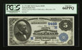 National Bank Notes:Wisconsin, Milwaukee, WI - $5 1882 Value Back Fr. 574 The Marine NB Ch. # (M)5458. ...