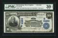 National Bank Notes:West Virginia, Martinsburg, WV - $10 1902 Plain Back Fr. 624 The Old NB Ch. #(S)6283. ...