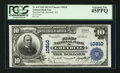National Bank Notes:Wyoming, Greybull, WY - $10 1902 Plain Back Fr. 632 The First NB Ch. #10810. ...