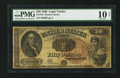 Large Size:Legal Tender Notes, Fr. 156 $50 1880 Legal Tender PMG Very Good 10 Net.. ...