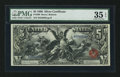 Large Size:Silver Certificates, Fr. 269 $5 1896 Silver Certificate PMG Choice Very Fine 35 EPQ.. ...