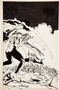 Original Comic Art:Covers, Russ Heath The Grim Ghost #3 Cover Original Art(Atlas/Seaboard Publ., 1975)....