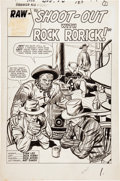 Original Comic Art:Splash Pages, Jack Kirby and Dick Ayers Rawhide Kid #31 Splash Page 1Original Art (Marvel, 1962)....
