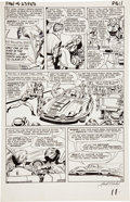 Original Comic Art:Panel Pages, Jack Kirby and George Roussos (as George Bell) FantasticFour #23 page 10 Original Art (Marvel, 1964)....