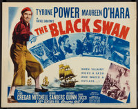 """The Black Swan Lot (20th Century Fox, R-1952). Half Sheets (2) (22"""" X 28"""") Style A. Adventure. ... (Total: 2 I..."""