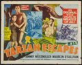 "Movie Posters:Adventure, Tarzan Escapes Lot (MGM, R-1954). Half Sheets (2) (22"" X 28"").Adventure.. ... (Total: 2 Items)"