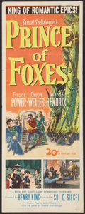 "Movie Posters:Adventure, Prince of Foxes (20th Century Fox, 1949). Insert (14"" X 36"").Adventure.. ..."