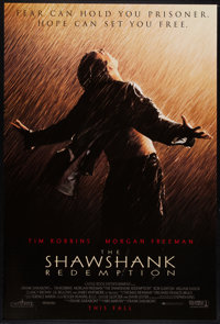 "The Shawshank Redemption (Columbia, 1994). One Sheet (27"" X 40"") DS Advance. Drama"
