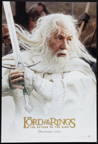 """The Lord of the Rings: The Return of the King (New Line, 2003). One Sheet (27"""" X 40"""") DS Gandolf Style Advance..."""