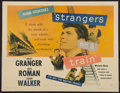 "Movie Posters:Hitchcock, Strangers on a Train (Warner Brothers, 1951). Half Sheet (22"" X28""). Hitchcock.. ..."