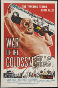 "Movie Posters:Science Fiction, War of the Colossal Beast (American International, 1958). One Sheet (27"" X 41""). Science Fiction.. ..."