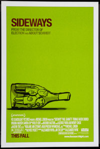 "Sideways (Fox Searchlight, 2004). One Sheet (27"" X 40"") SS Advance. Comedy"