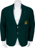 "Golf Collectibles:Autographs, 1937 Robert T. ""Bobby"" Jones' Personal Augusta Green Jacket...."