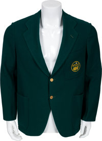 "1937 Robert T. ""Bobby"" Jones' Personal Augusta Green Jacket"