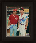 Baseball Collectibles:Photos, Pete Rose and Mike Schmidt Multi Signed Photograph. ...