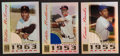 Baseball Cards:Singles (1970-Now), 2003 Topps Tribute Banks, Mathews and McCovey Game-Used Bat CardTrio (3). ...
