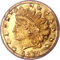 California Fractional Gold, 1872/1 25C Indian Round 25 Cents, BG-869, Low R.4, MS66 Deep MirrorProoflike NGC....