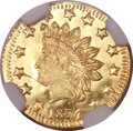 California Fractional Gold, 1874/3 50C Indian Round 50 Cents, BG-1052, High R.4, MS66 ProoflikeNGC....