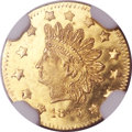 California Fractional Gold, 1873 50C Indian Round 50 Cents, BG-1051, Low R.5, MS65 ProoflikeNGC....