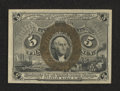 Fractional Currency:Second Issue, Fr. 1234 5¢ Second Issue Extremely Fine-About New.. ...