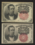Fractional Currency:Fifth Issue, Fr. 1265 10¢ Fifth Issue Fine. Fr. 1266 10¢ Fifth Issue VF-XF.. ...(Total: 2 notes)