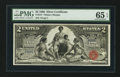 Large Size:Silver Certificates, Fr. 247 $2 1896 Silver Certificate PMG Gem Uncirculated 65 EPQ.....