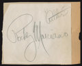 Boxing Collectibles:Autographs, Rocky Marciano Signed Cut Signature....