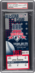"Baseball Collectibles:Tickets, 1997 Major League Baseball All-Star Game Full Ticket PSA""Authentic.""..."