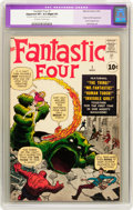 Silver Age (1956-1969):Superhero, Fantastic Four #1 (Marvel, 1961) CGC Apparent VF+ 8.5 Slight (P)Off-white to white pages....