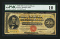 Large Size:Gold Certificates, Fr. 1217 $500 1922 Gold Certificate PMG Very Good 10.. ...