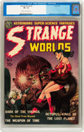 Golden Age (1938-1955):Science Fiction, Strange Worlds #2 (Avon, 1951) CGC VF- 7.5 Cream to off-white pages....