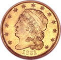 Early Quarter Eagles, 1831 $2 1/2 MS65 Prooflike NGC. Breen-6134, BD-1, R.4....