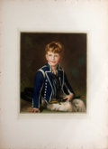 Antiques:Posters & Prints, Nesbit. Charming Chromolithograph of a Smiling Cabin Boy Holding aKnife...