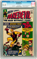 Silver Age (1956-1969):Superhero, Daredevil #1 (Marvel, 1964) CGC VF 8.0 Off-white pages....