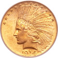 Indian Eagles, 1914 $10 MS64 PCGS. CAC....
