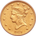 Liberty Eagles, 1839 $10 Type of 1838, Large Letters -- Cleaned -- ANACS. AU55Details....