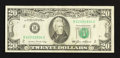 Error Notes:Obstruction Errors, Fr. 2075-B $20 1985 Federal Reserve Note. Very Fine.. ...