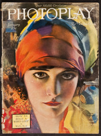 "Photoplay (Photoplay Publishing Company, January, 1921). Magazine (Multiple Pages, 8.75"" X 11.25""). Miscellane..."