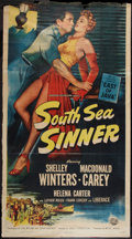 "Movie Posters:Adventure, South Sea Sinner (Universal International, 1950). Three Sheet (41""X 75""). Adventure.. ..."